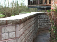 Flood Defence Wall with Redi-Rock blocks